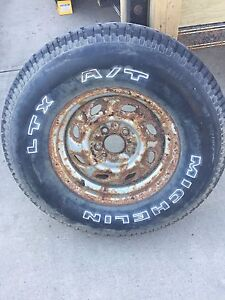 New tire on rim