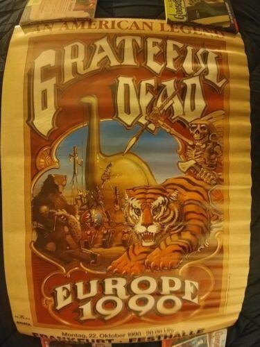 Vintage Grateful Dead Europe 1990 Tour Poster 33X23