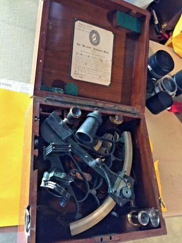 Hezzanith  Instrument Works  Large Vernier  sextant Class A 1925 Navigation RARE