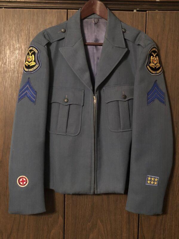 Missouri State Highway Patrol Uniform Ike Jacket Police Sheriff Patch Vintage