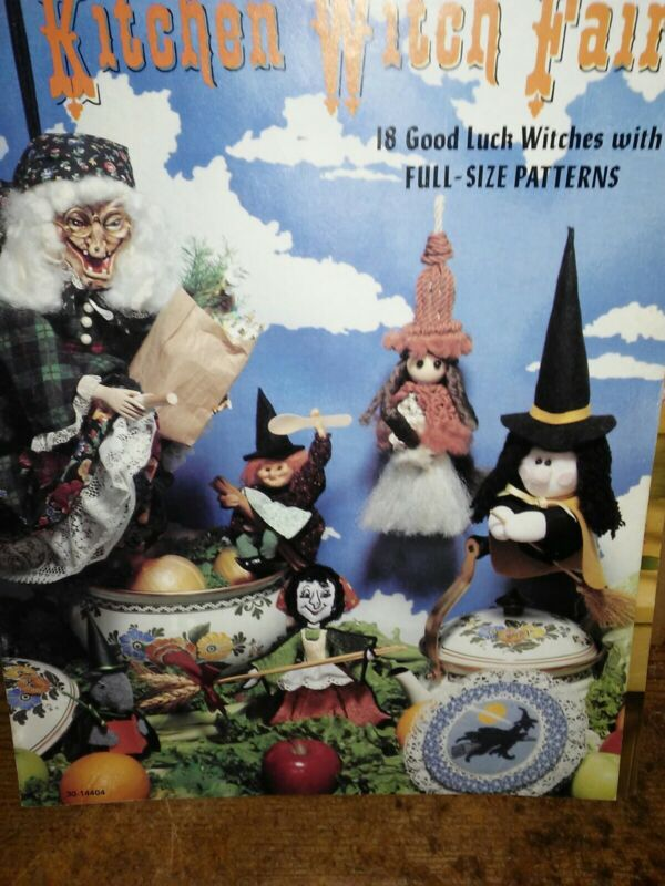 Kitchen Witch Faire Sewing Pattern Book Witch Dolls
