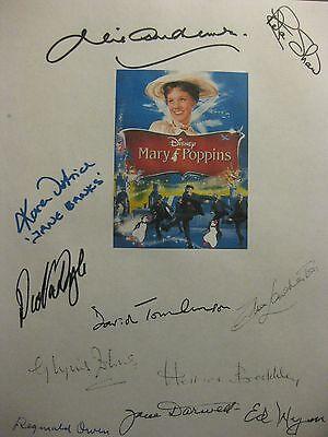 Mary Poppins Signed Film Script X11 Dick Van Dyke Julie Andrews David Tomlinson