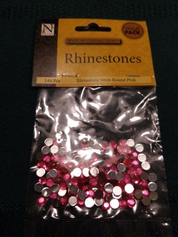 Nicole 5mm Round Pink Rhinestones