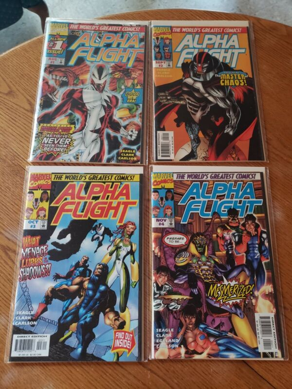 Alpha flight comic lot 1-15