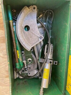 Greenlee 882 Hydraulic Conduit Bender W 1 14 - 2 Shoes 755 Pump And Case