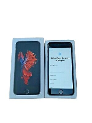 VGC LOCKED Apple iPhone 6s - 32GB - Space Grey (EE) A1688 (CDMA + GSM) WITH BOX