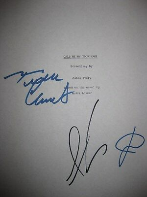 Call Me By Your Name Signed Film Script X3 Armie Hammer Luca Guadagnino reprint