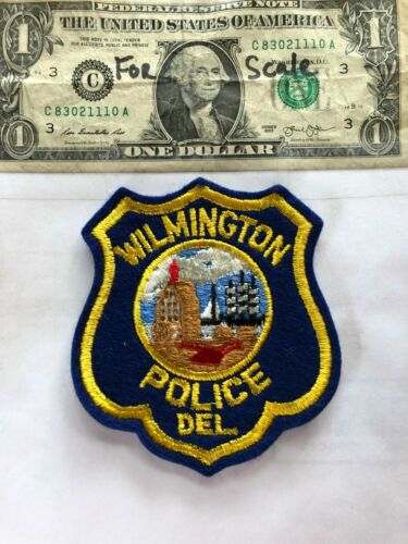 Wilmington Delaware Police Patch Un-sewn in great shape