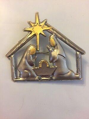 - New Jesus Silver Christmas Brooch Pin Lapel Gift nativity pastor W Gift Box