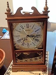 Vintage 31 Day Wind-Up Pendulum Chime Wall Clock#8016.Made in Japan 19 H.