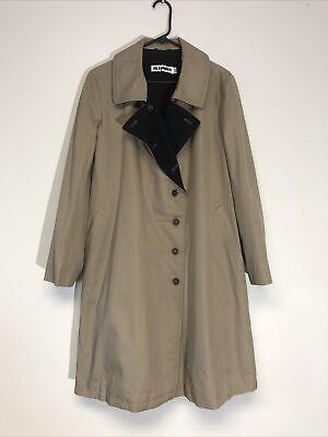 Jil Sander Women's Trench Coat Lined Size 42 10 Beige Cotton U-991