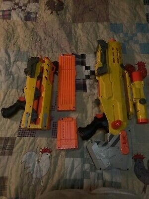 Longshot Nerf Gun CS6 N Strike Sniper Rifle Gun with Dart Yellow Version Hasbro