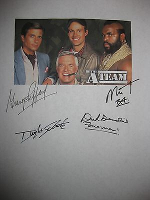 The A Team Signed TV Script George Peppard Mr. T Dwight Schultz Dirk Benedict rp