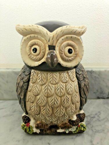 Cracker Barrel Holiday Owl Cookie Jar