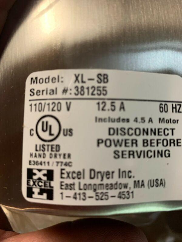 Excel Dryer XLERATOR Stainless Steel Automatic Hand Dryer XL-SB