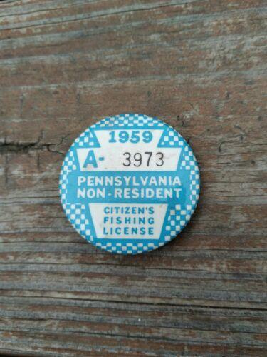 1959 PA Non Resident Fishing License - Pennsylvania Licenses