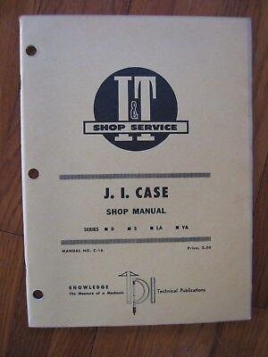 Case D S La Va It Tractor Shop Manual