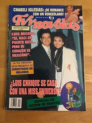 Tv y Novelas magazine 1992 Num. 24 LUIS ENRIQUE