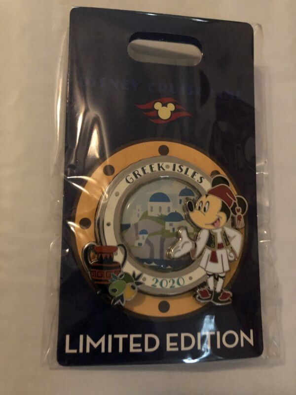 Disney Cruise Line Greek Isles Limited Edition Mickey Mouse Pin 2020 New On Card