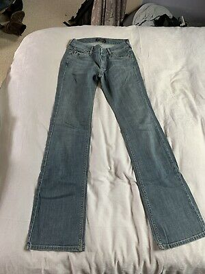 JAMES JEANS DRY AGED DENIM BLUE W27 L 33.5 BOOTCUT FADED LOOK