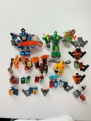 Lego Nexo Knights Mixed Lot of Figures and Equipment Used