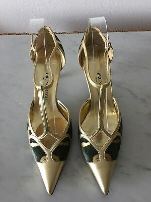 AUTHENTIC BRUNO MAGLI WOMEN T STRAP SHOES SZ 8/38 for sale  Shipping to Canada