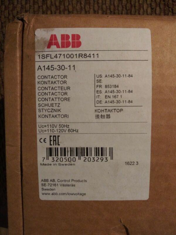 12A Contactor ABB Control A12-30-10-24V-50HZ, 5.5KW