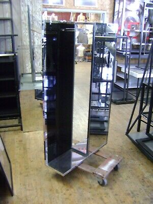 Coach Retail Commercial Display Floor Model Mirrored Racks Set Of 2