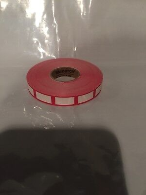 Single Roll Of Red And White Labels For Monarch 1110