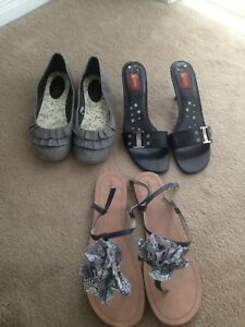 3 Pairs of Shoes----size 10/11