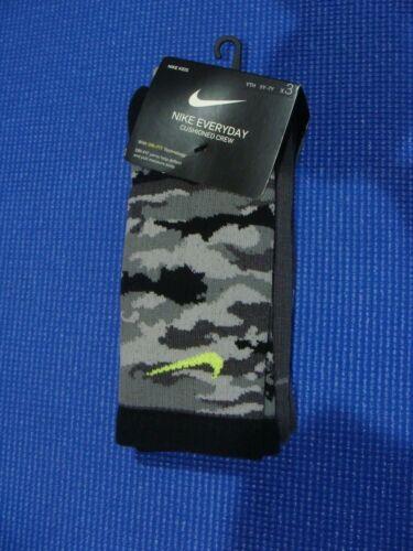 Youth Nike 3PR Everyday Crew Socks SX6383 923 Size M 5Y-7Y