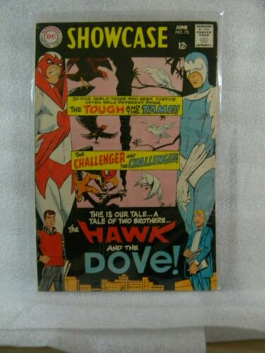 SHOWCASE # 75 (1968)  First app. Hawk and Dove by Steve Ditko  FN/FN+ Silver Age