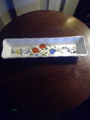 AYNSLEY FAMILLE ROSE MINT TRAY DISH porcelain