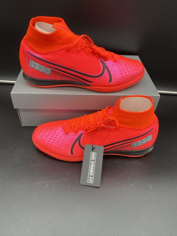 Nike Superfly 7 Elite IC Indoor Court Crimson Black AT7982-606 Size 9.5