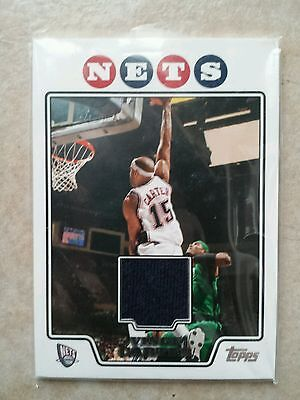 VINCE CARTERS TOPPS JERSEY SWATCH NEW JERSEY NETS