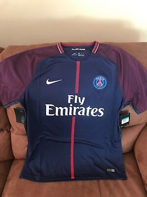 0ad3f403b Nike Paris Saint Germain France 2017 Soccer Jersey NWT Size XL Mens