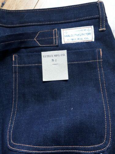 Jeans denim Lutece MFG Martingale Selvedge clothing us navy W34 Rockabilly