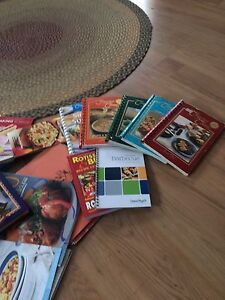 A bunch of cook books