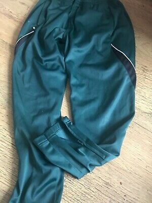 Age 11-12 green skinny track bottoms black down side pockets  ⚽️