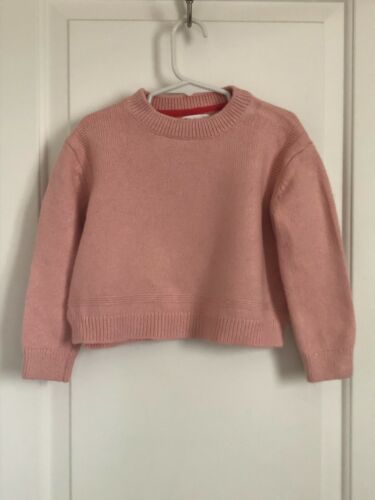 Mini Boden girls 4-5 light pink wool alpaca blend long sleeve sweater CUTE!!