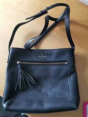 Kate Spade Black Leather Cross Body Bag