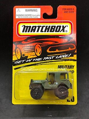 Matchbox 1995 Military Jeep Green Fast Lane Rare HTF New US Die Cast