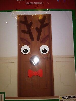 Happy Holidays Reindeer Door Decoration Cutouts