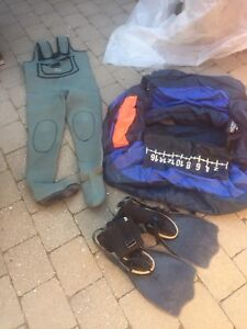 Belly boat & hip waders