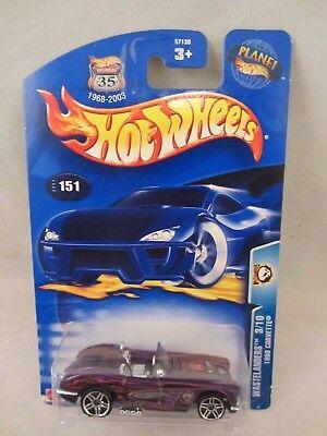 Hot Wheels  2003-151 , 1958 Corvette  Purple   NOC  1:64 Scale  (1017)  57130