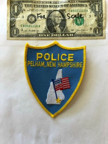 Pelham New Hampshire Police Patch un-sewn mint shape