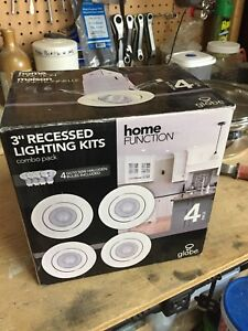 "NEW! Never used. Pack of 4. 3"" Recessed Pot Lights."