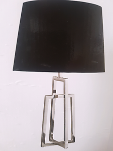 2 black chrome bedside table lamps AS NEW Burleigh Heads Gold Coast South Preview