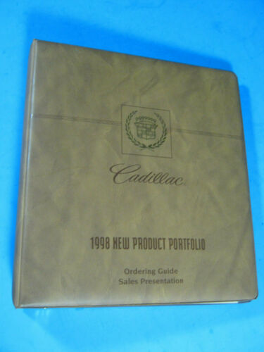 1998 CADILLAC NEW PRODUCT PORTFOLIO ORDERING GUIDE SALES DEALER