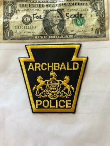 Archbald Pennsylvania Police Patch un-sewn in mint shape
